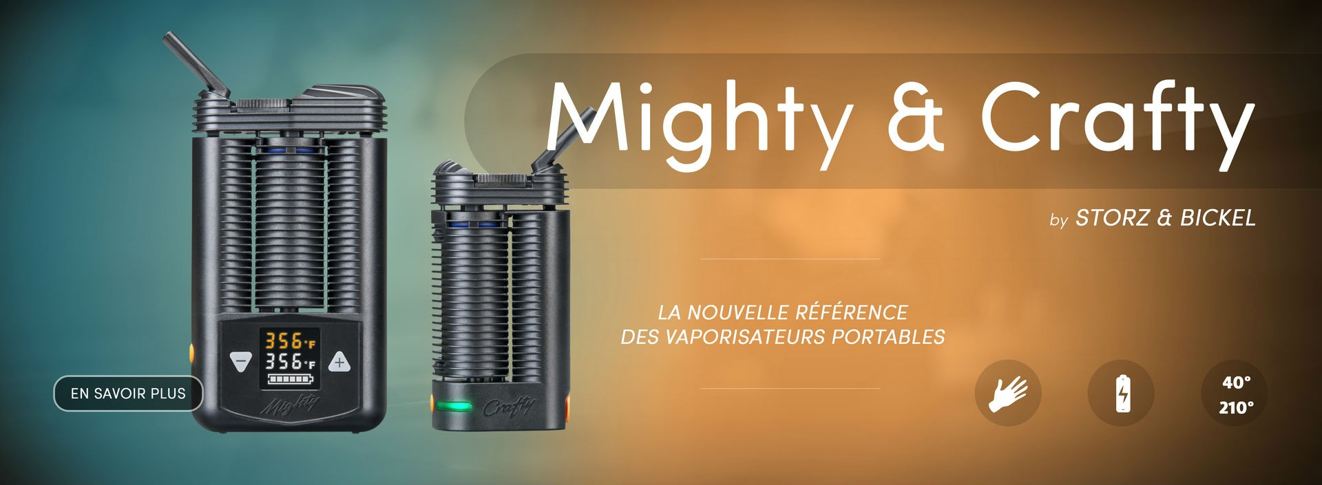 vaporisateur portable Mighty et Crafty